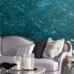 Декоративная штукатурка цвета морской волны