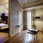 Гостиная и спальня с перегородкой