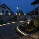 Подсветка тропинки во дворе