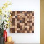 Панно из деревянных кубиков