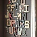 Декор из букв на стене