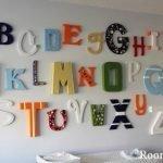 Алфавит на стене