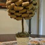 Деревце с кроной из мешковины