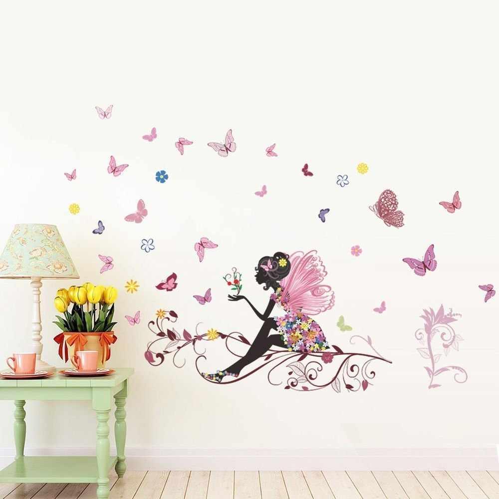 Наклейки на стене в интерьере комнаты