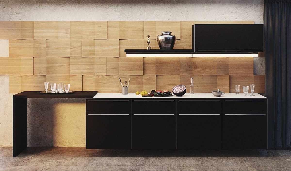 Декоративные панели из МДФ на кухне