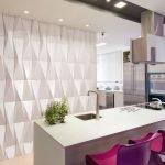 Гипсовые панели на кухне