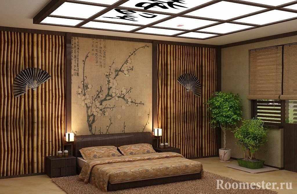 Бамбуковые панели в интерьере японского стиля