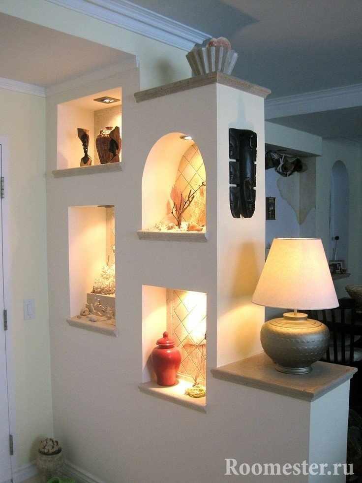 Арочки и полочки с подсветкой
