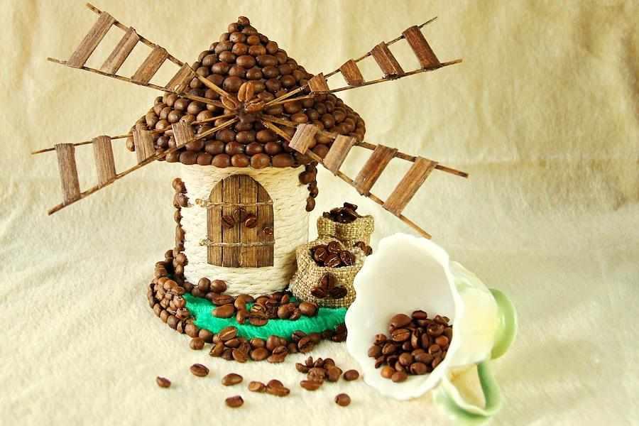 Мельница из кофе