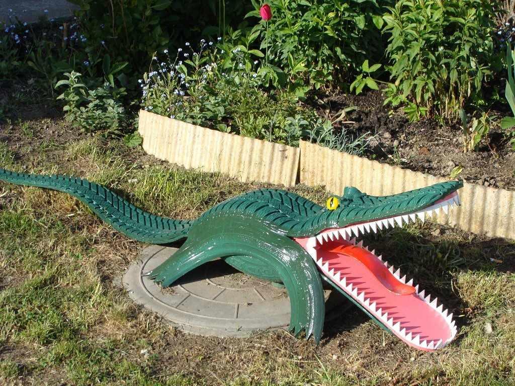 Крокодил из покрышки