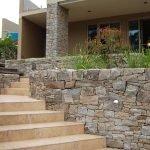 Камни возле ступеней
