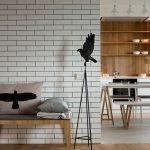 Кирпичная стена в дизайне квартиры