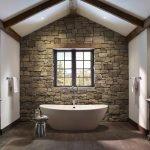 Отделка натуральным камнем ванной комнаты
