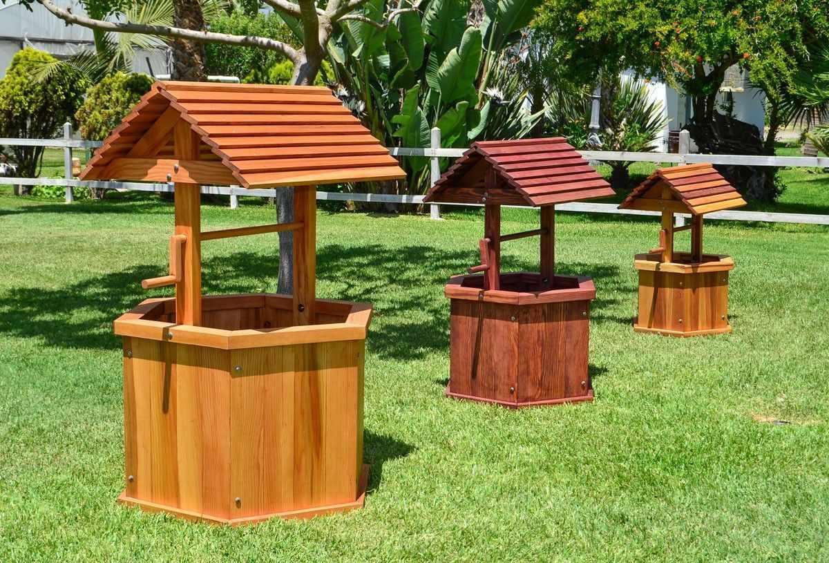 Колодцы для декора участка на даче