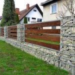 Ограда из камня и дерева