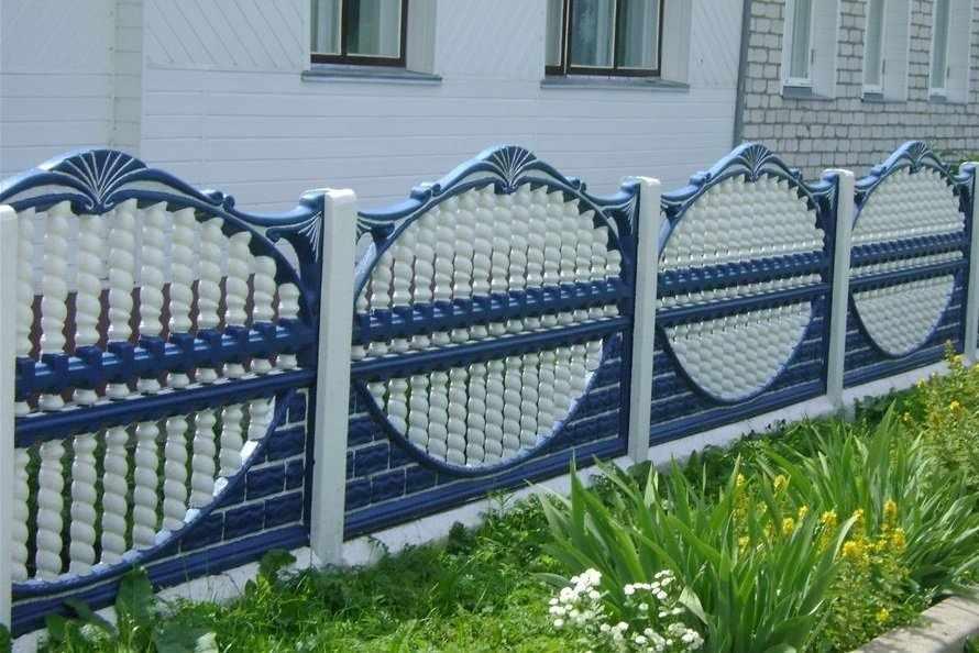 Красивый бетонный забор