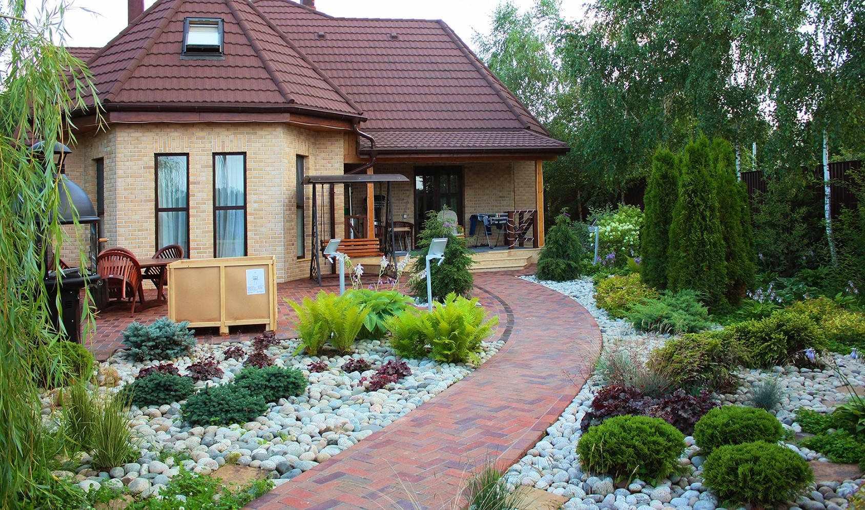 Деревенский дом с фасадом из клинкера