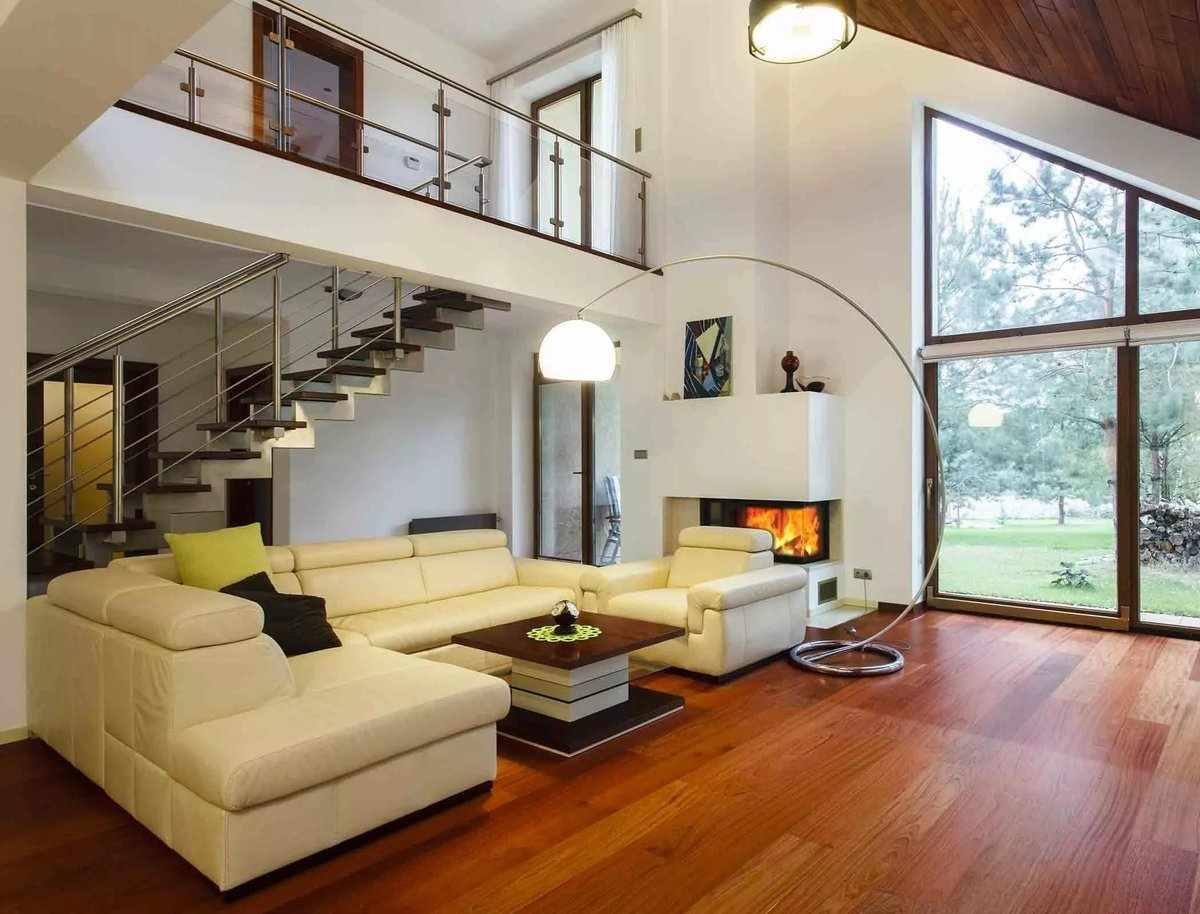 Интерьер деревенского дома в стиле модерн