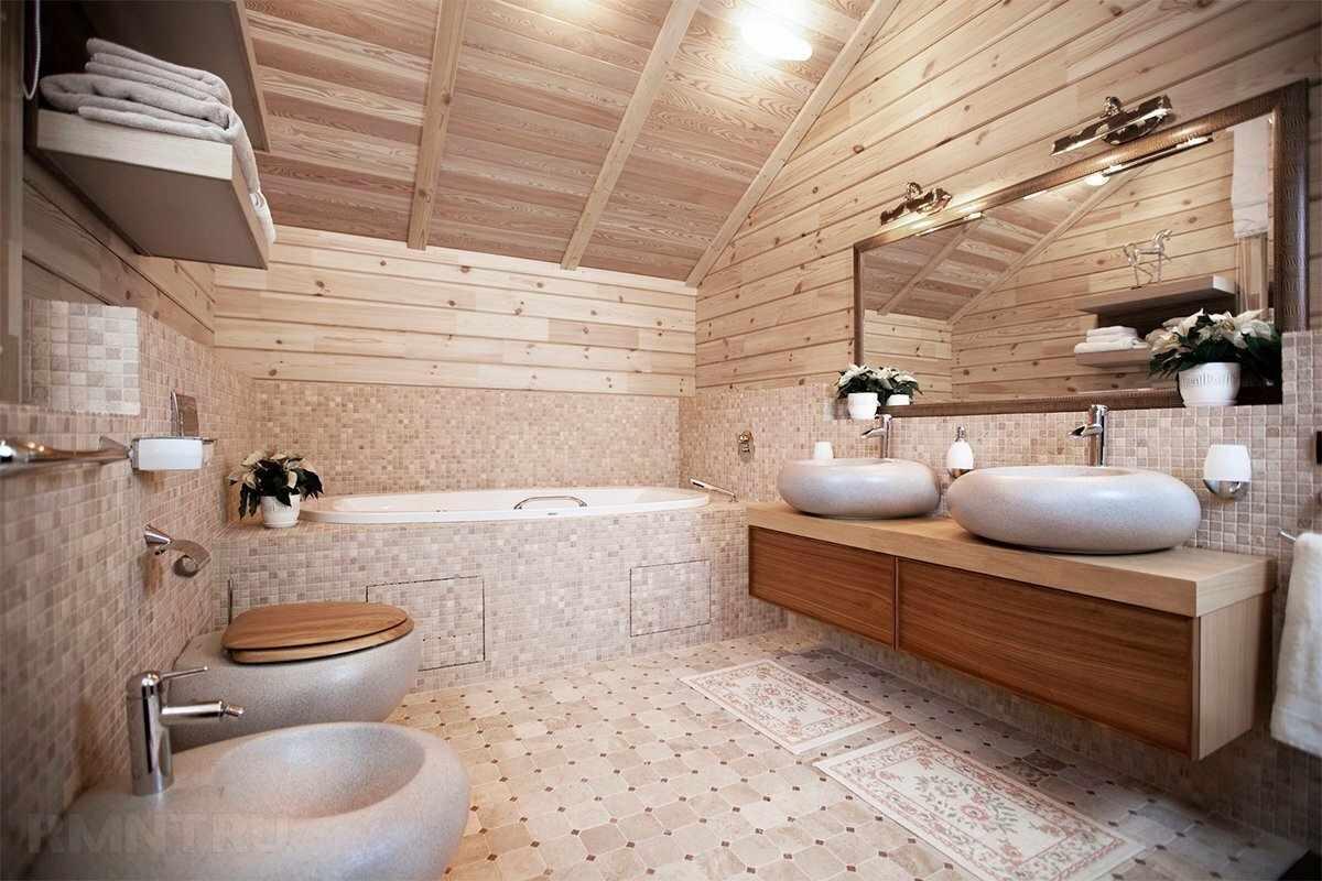 Ванная в деревенском доме