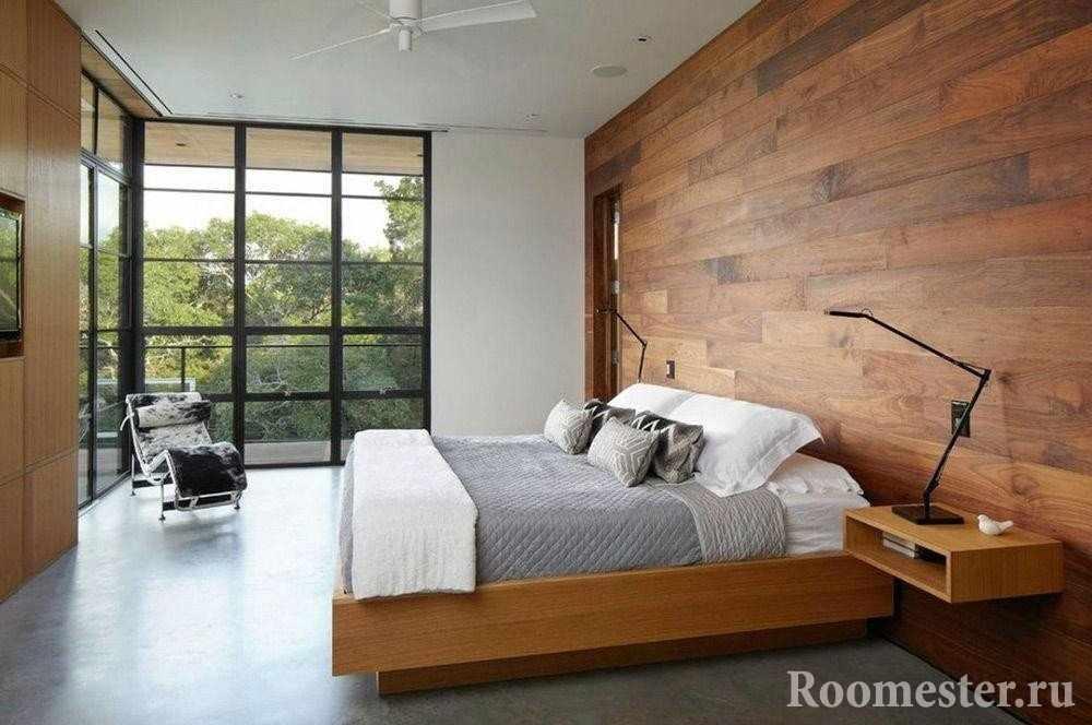 Деревянные обои - современная отделка стен