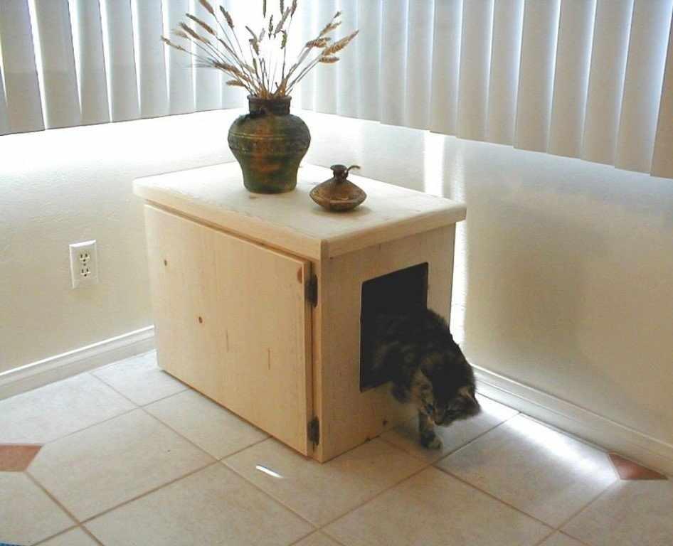 Домик для кошек из ящиков