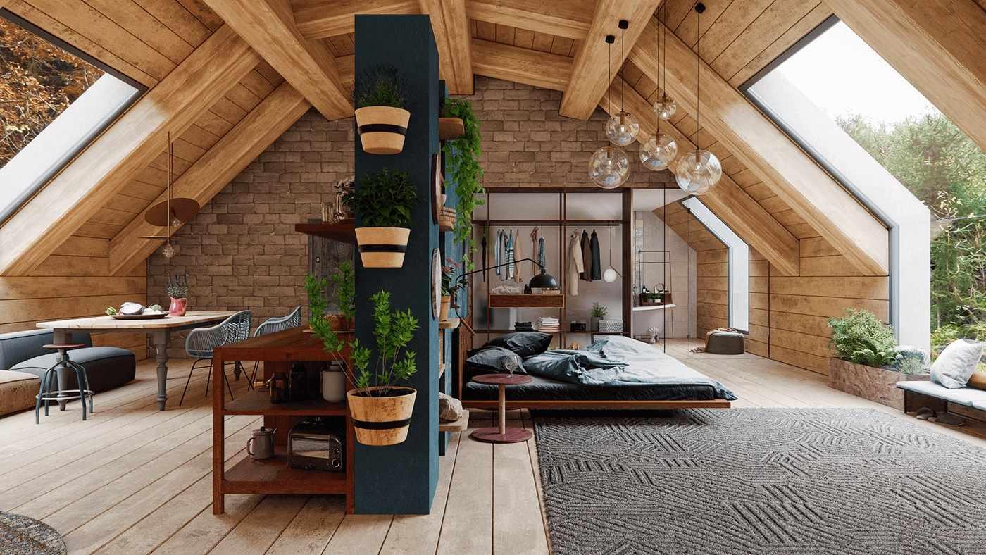 Деревянный дом в эко стиле