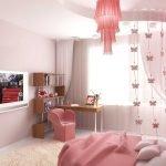 Интерьер в розовом цвете