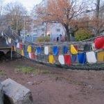 Подвесной мост из сетки