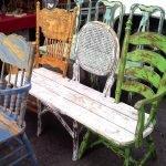 Интересные идеи из старых стульев