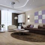 Ламинат на полу гостиной