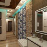 Голубая подсветка на потолке