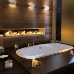 Декоративный камин в ванной