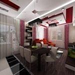 Красный в дизайне квартиры
