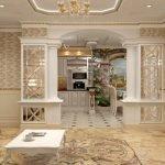 Золотые оттенки в дизайне квартиры