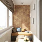 Интересное оформление стены на балконе