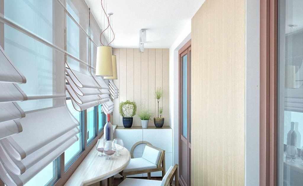 Красивый дизайн балкона в панельном доме