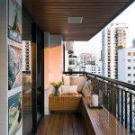 Вагонка в отделке открытого балкона