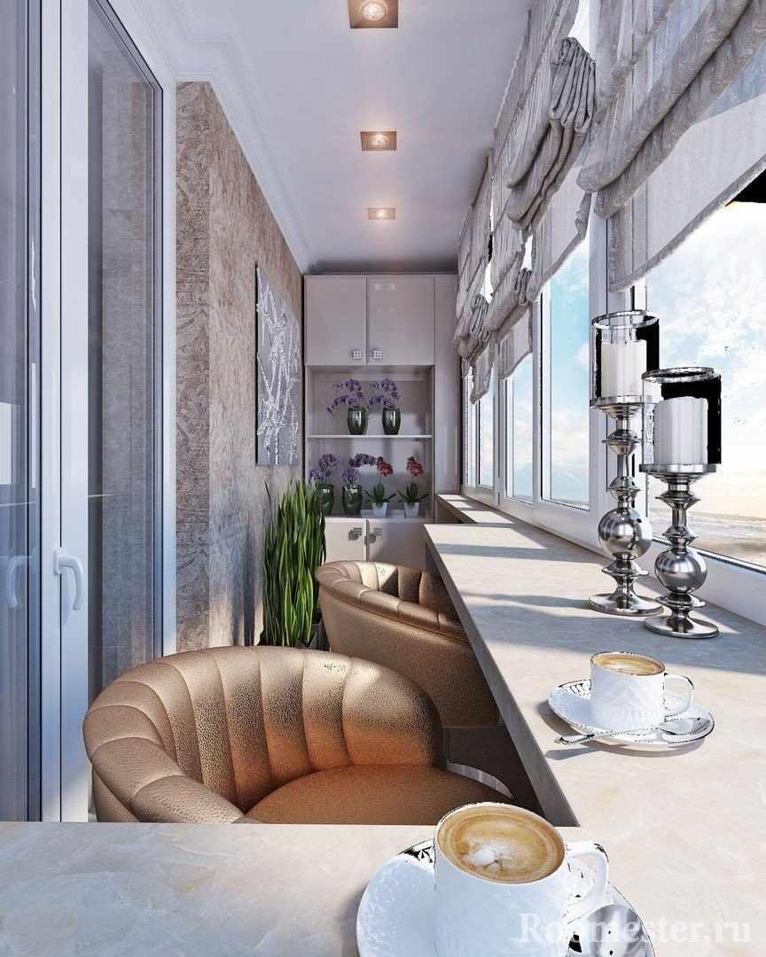 Балкон в стиле модерн