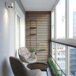 Балкон с современным дизайном