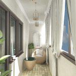 Балкон с красивым дизайном
