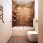 Полки над ванной