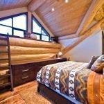 Дизайн спальни с бревнами