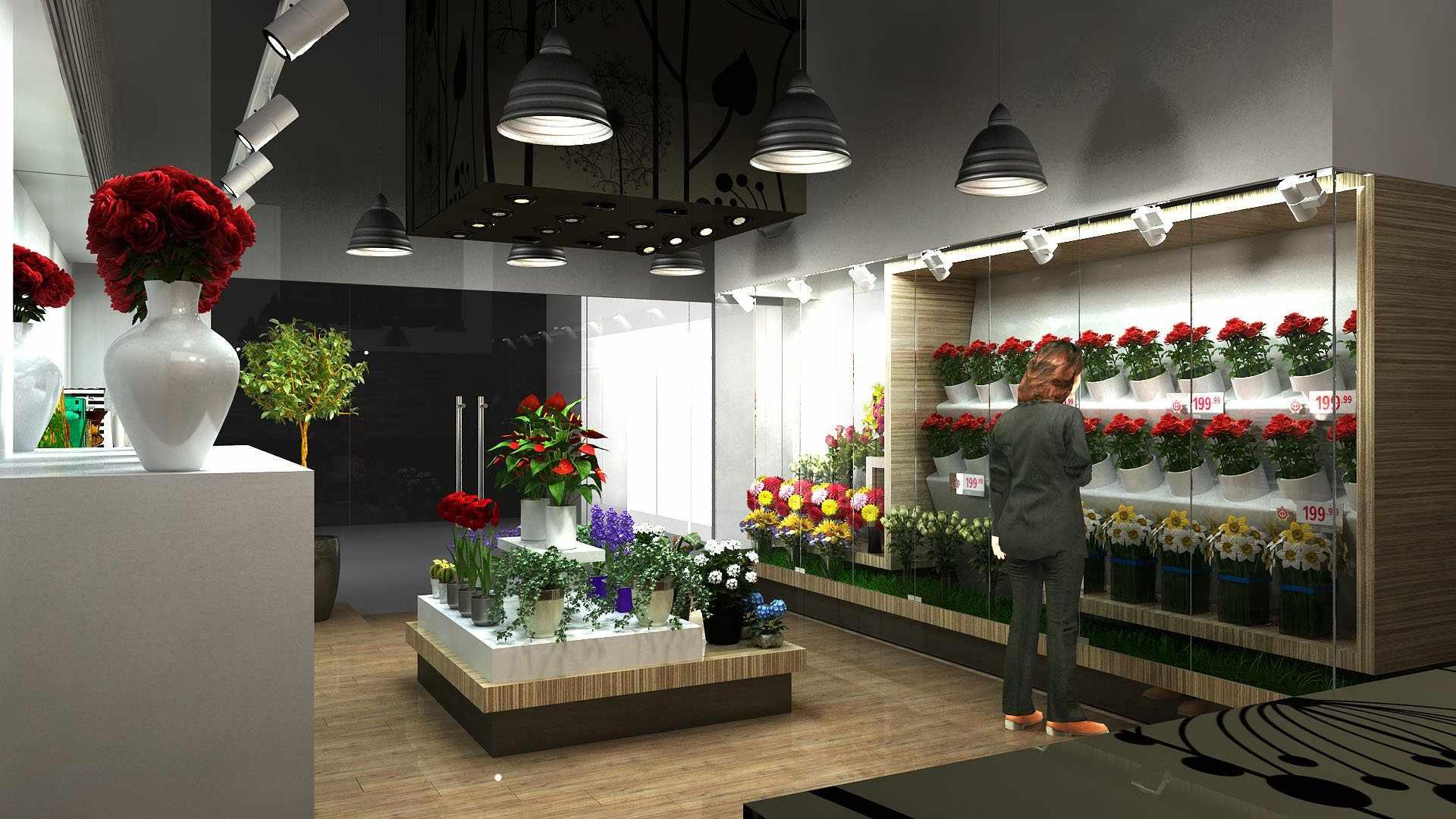 Освещение цветочного магазина