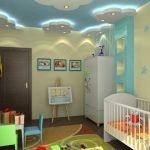 Тучки с подсветкой на потолке