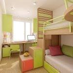Детская с рабочей и спальной зонами