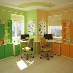 Мебель разного цвета для каждого мальчика