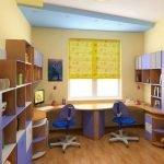 Многоуровневый потолок в детской