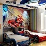 Кровати в виде гоночных машин