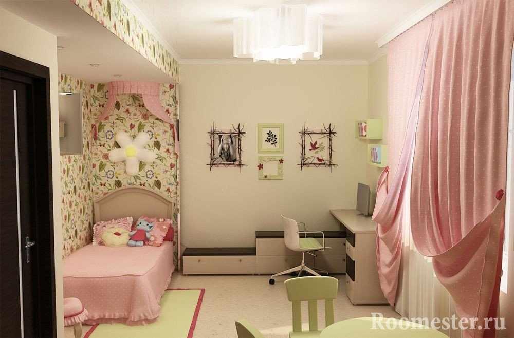 Дизайн светлой спальни для девочки