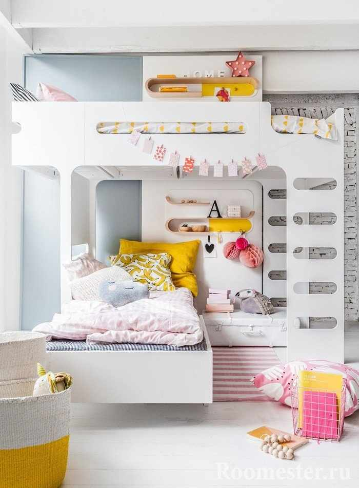 Современный вариант двухъярусной кровати